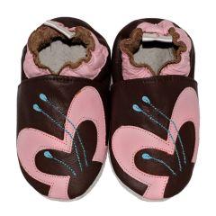 babyslofjes avant garde bruin met vlinder
