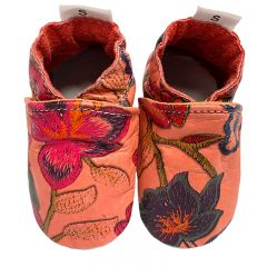 Babyslofjes peachy blossom fleurige bloemen slofjes