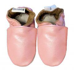 babyslofjes effen parelmoer roze