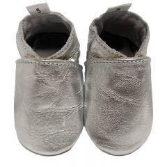 babyslofjes effen zilver