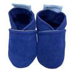 babysteps babyslofjes plain blue suede