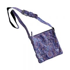 Leren Tas Paisley dotted Purple