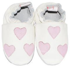 Babyslofjes White Hearts