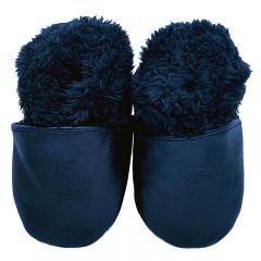 winterslofjes gevoerd effen zwart glamour edition