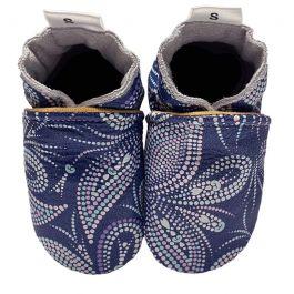 Babyslofjes Paisley dotted blue