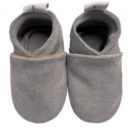 Babyslofjes Plain Grey Suède