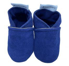 Babyslofjes Plain Blue Suède