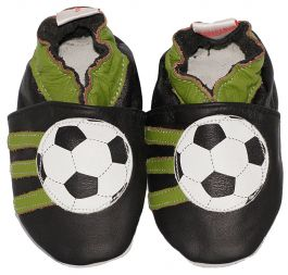 Babyslofjes Black Soccer