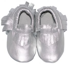 Moccasins Silver Ibiza Style